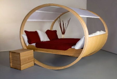 circular beds private cloud modern bedroom furniture