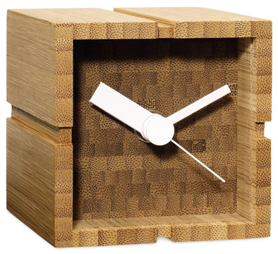 clocks desk bamboo yusuks tsujita
